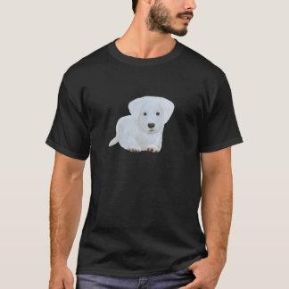 Welpen-Weißhund des niedlichen Babys glücklicher T-Shirt