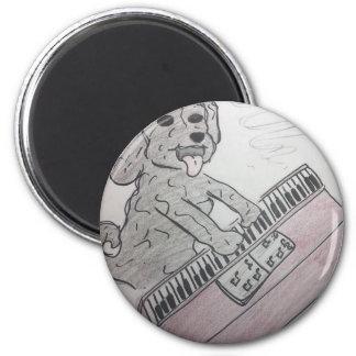 Welpenklavier Runder Magnet 5,1 Cm