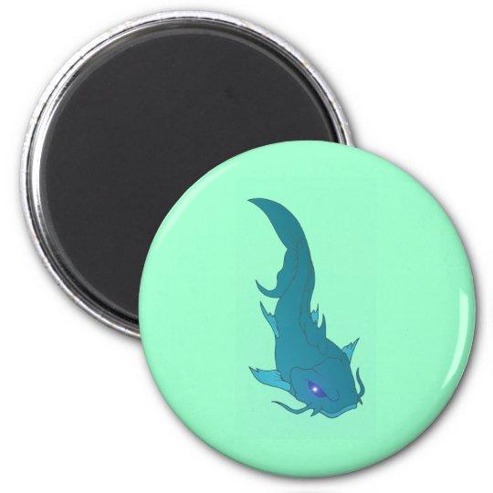 Wels catfish runder magnet 5,1 cm
