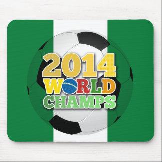 Welt 2014 kaut Ball - Nigeria Mousepad