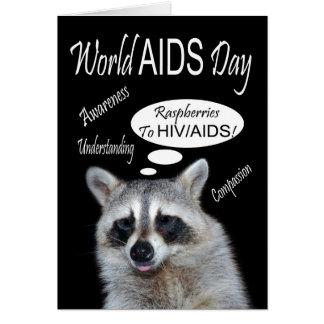 Welt-Aids-Tag-Gruß-Karte Karte