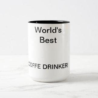 Welt am besten, COFFE TRINKERS! Zweifarbige Tasse