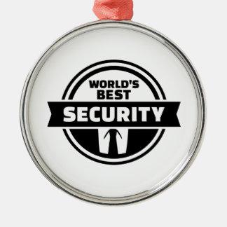Welt' beste Sicherheit Rundes Silberfarbenes Ornament