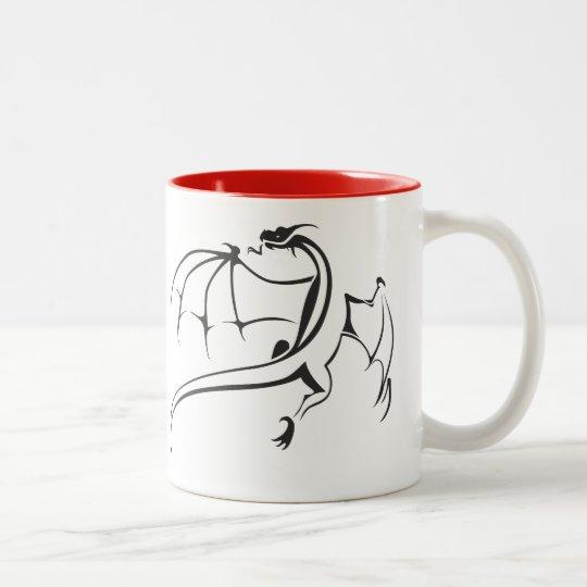 Welt des Drachen Zweifarbige Tasse