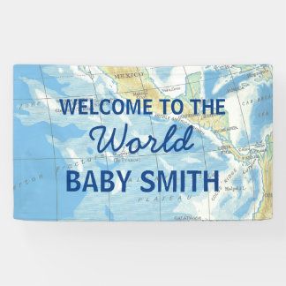 Welt erwartet Babyparty-Hintergrund Banner