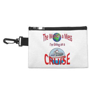 Welt ist ein Verwirrungs-Kreuzfahrt-Spaß Kulturtasche