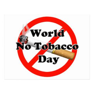 Welt kein Tabak-Tag Postkarte