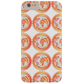 Welt, Kugel, Kontinente. Orange und Weiß Barely There iPhone 6 Plus Hülle
