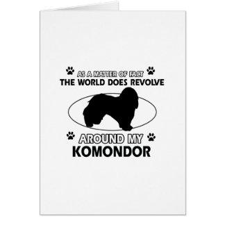 Welt rotiert um mein komondor karte
