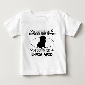 Welt rotiert um mein Lhasa apso Baby T-shirt