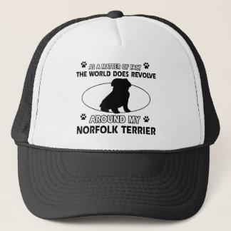 Welt rotiert um meinen Norfolk-Terrier Truckerkappe