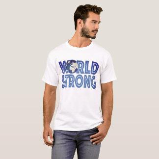 Welt stark für Mann-helles Kleid
