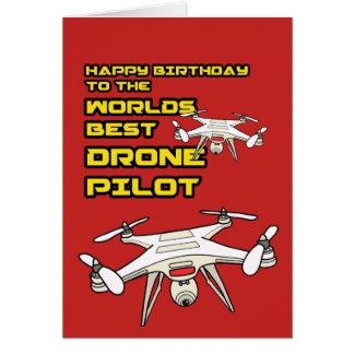 Weltbeste Drohne-PilotBirtdhay Karte