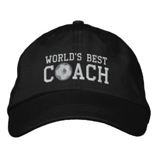 Weltbeste Fußball-Trainer-Kappe Bestickte Baseballkappe