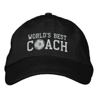 Weltbeste Fußball-Trainer-Kappe Bestickte Caps