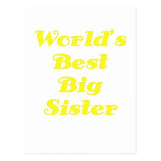 Weltbeste große Schwester Postkarte