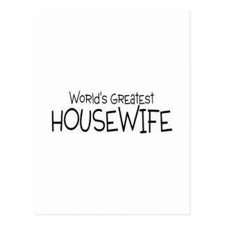 Weltbeste Hausfrau Postkarte