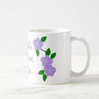 Weltbeste Mamma-lila Blumen Kaffeetasse