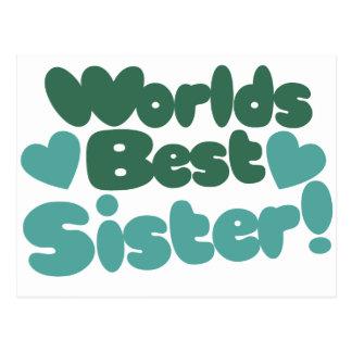 Weltbeste Schwester Postkarte