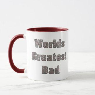 Weltbeste Vati-Ziegelstein-Wand-Tasse Tasse
