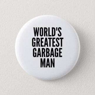 Weltbester Abfall-Mann Runder Button 5,1 Cm