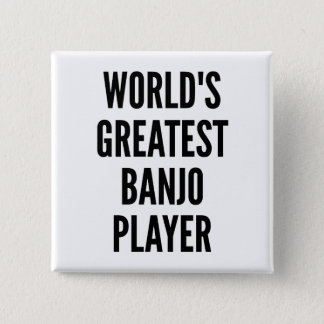Weltbester Banjo-Spieler Quadratischer Button 5,1 Cm