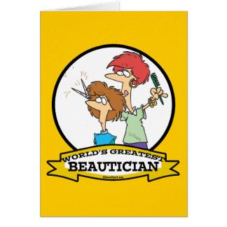 WELTBESTER BEAUTICIAN-FRAUEN-CARTOON KARTE