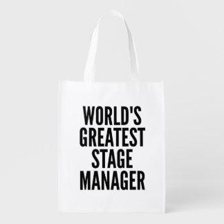 Weltbester Bühne-Manager Wiederverwendbare Tragetaschen