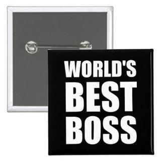 Weltbester Chef Quadratischer Button 5,1 Cm