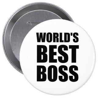 Weltbester Chef Runder Button 10,2 Cm