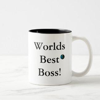 Weltbester Chef! Zweifarbige Tasse