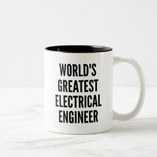 Weltbester Elektroingenieur Zweifarbige Tasse