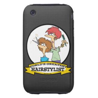 WELTBESTER HAIRSTYLIST-FRAUEN-CARTOON iPhone 3 TOUGH ETUIS