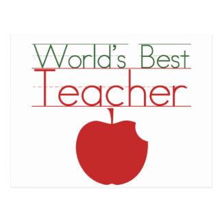 Weltbester Lehrer Postkarten