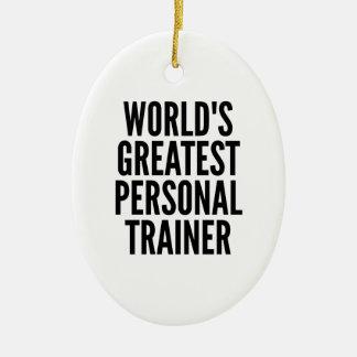 Weltbester persönlicher Trainer Keramik Ornament
