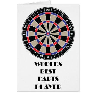 Weltbester Pfeil-Spieler Karten