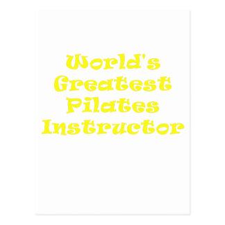Weltbester Pilates Lehrer Postkarte
