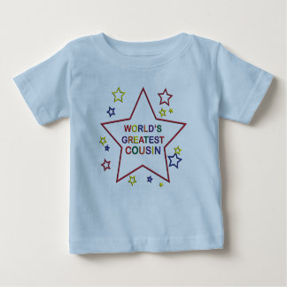Weltbester Stern-Cousin-blauer Säuglings-T - Shirt