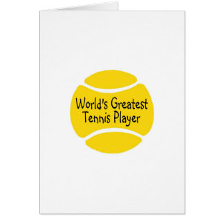Weltbester Tennis-Spieler Grußkarte