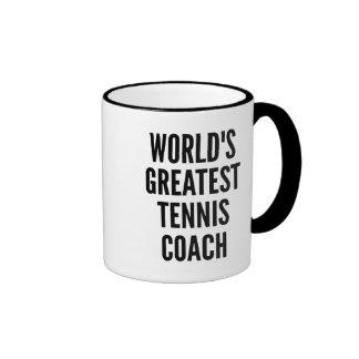 Weltbester Tennis-Trainer Ringer Tasse