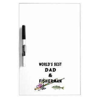 Weltbester Vati und -fischen Memoboard