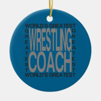 Weltbester Wrestling-Trainer Rundes Keramik Ornament