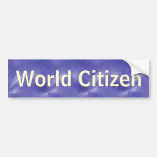 Weltbürger Autosticker
