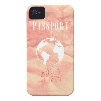 Weltbürger-Passrosa iPhone Fall Case-Mate iPhone 4 Hülle