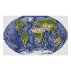 Weltentlastungs-Karte Poster
