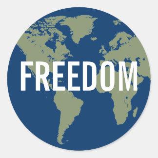 Weltfreiheits-Aufkleber