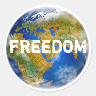 Weltfreiheits-Aufkleber-Set