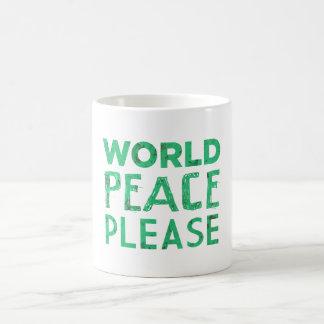 Weltfrieden bitte kaffeetasse