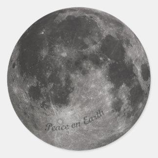Weltfrieden - ein Mann machte Krater-Aufkleber Runder Aufkleber