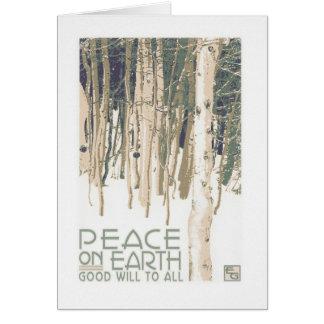 Weltfrieden-Handwerker-Weihnachtskarte Grußkarte